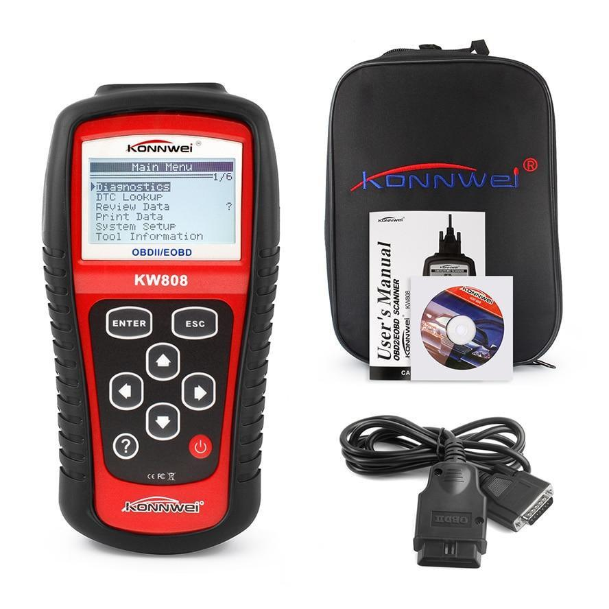 Автомобильный диагностический сканер Konnwei KW808 OBD2, автосканер для автомобиля