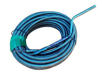Сантехнический трос крот 12 мм 15 м для чистки канализационных труб, унитазов, стояков, фото 2