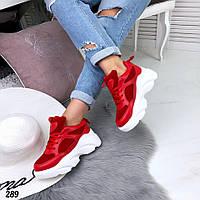 Кроссовки женские белый +красный 289, фото 1
