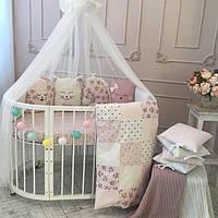 Детский постельный комплект в кроватку.