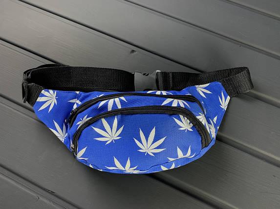 Мужская/женская сумка бананка Cannabis, фото 2