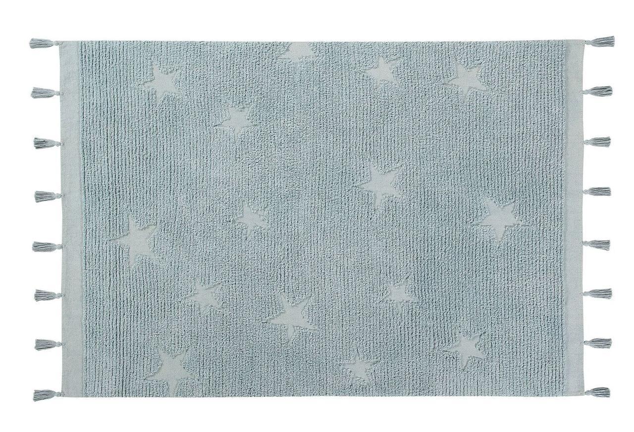 Lorena Canals - Ковер Hippy Stars aqua blue, 120 x 175 см