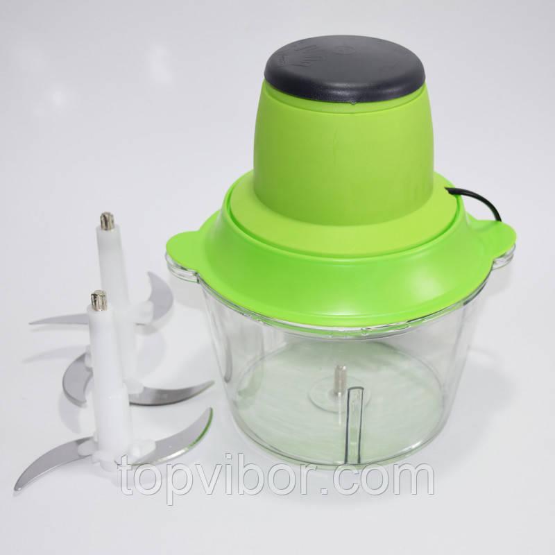 🔝 Блендер Kanwood с двухъярусным лезвием, измельчитель электрический с чашей + миксер (Молния 2)   🎁%🚚