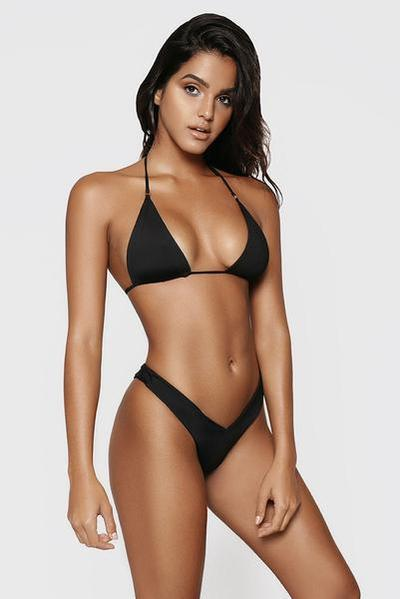 Модный женский купальник бикини черный