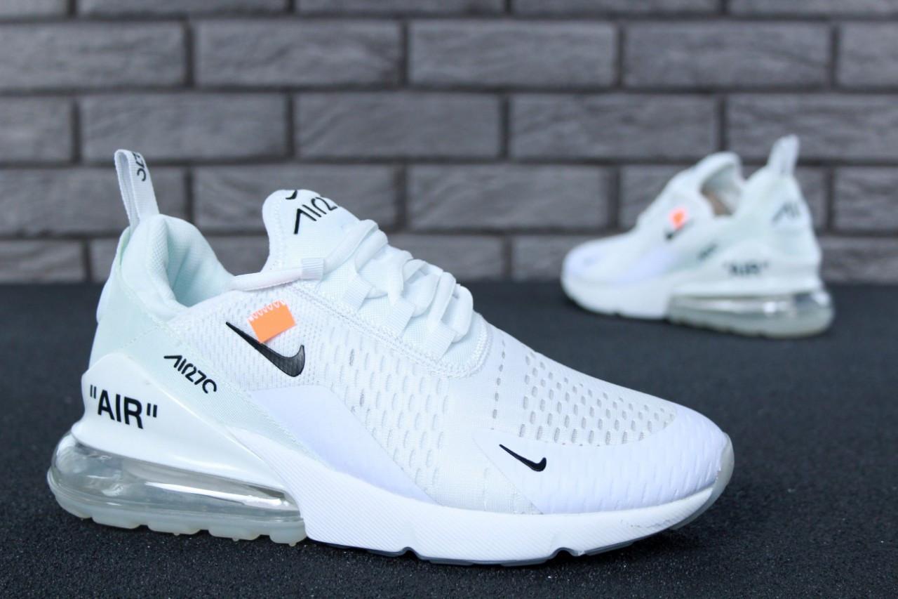 Женские кроссовки в стиле Off White x Nike Air Max 270 (36, 37, 38, 39, 40 размеры)