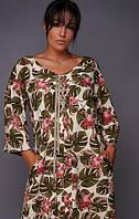 Легкое летнее платье большого размера ,ткань софт,спереди шнуровка р. 58,60,62  (864)