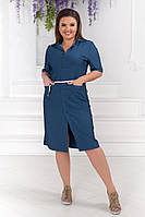 Легкое летнее платье размеры 50-60. Артикул: 0113980