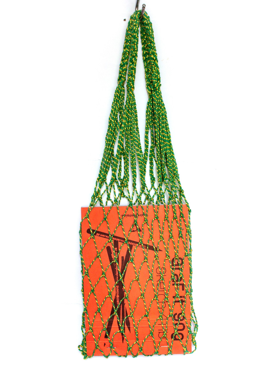 Сумка -  Прочная сумка Авоська мини - зелёная-желтая