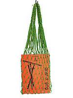Сумка -  Прочная сумка Авоська мини - зелёная-желтая, фото 1