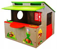 Детский игровой домик Mochtoys 020 с кухней  (Игровой домик для улицы и дома детская кухня)