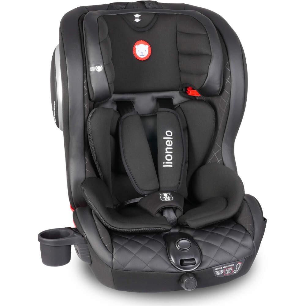Детское автокресло Lionelo JASPER ISOFIX от 9 до 36 кг Черное (Кресло для машины детское)