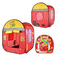 Детская игровая палатка в виде гаража станет отличным подарком для мальчика от 3 лет 78-78-96 см