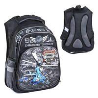Школьный ортопедический рюкзак С36307 на 2 отделения, 3 кармана 3d принт