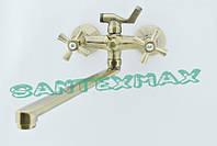 Смеситель латунный для ванны Mixxus Premium Retro Bronze 140 Euro