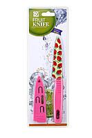 Нож кухонный для очистки овощей и фруктов, с антибактериальным покрытием, Mix + 2 цвета