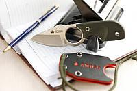 Нож туристический Amigo-X D2, серый титан, зеленая,качественные , элитные,ножи кизляр,супер ножи