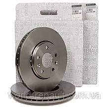 Передний тормозной диск на Рено Трафик III 2014г.->/ Renault (Original) 402066352R