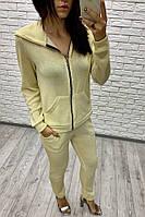 Женский летний спортивный костюм золотистый 42-44 44-46 48-50 52-54
