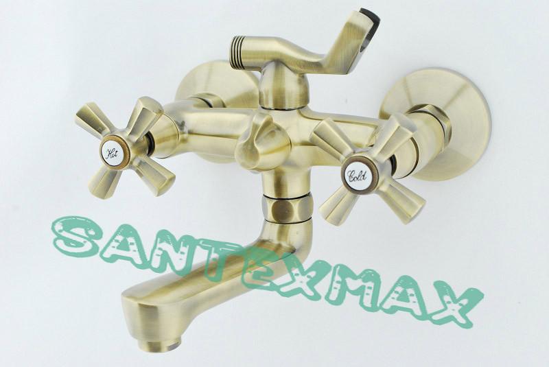 Змішувач для душу і ванни Mixxus Premium Retro Bronze 142 Euro