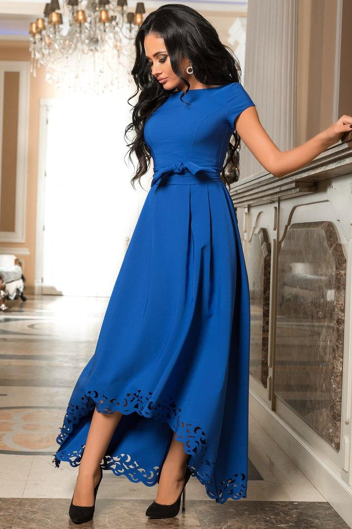 Женское вечернее платье со шлейфом р. 44-52