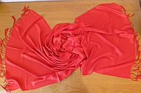 Шарф палантин 182х71см кашемировый красный
