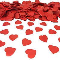 Конфетти Сердечки, 35 мм, цвет красный, 50 г.
