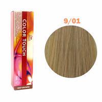 Краска для волос Wella Color Touch №9/01 (яркий блонд натурально-пепельный)