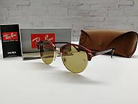 Очки унисекс солнцезащитные Ray Ban Рей  Бен  кругляши  линза коричневая (реплика)