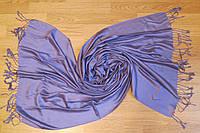 Шарф палантин 182х71см кашемир фиолетовый