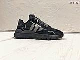 Чоловічі кросівки Adidas Nite Jogger (Адідас Найт Джогер) Чорні, фото 2