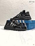Чоловічі кросівки Adidas Nite Jogger (Адідас Найт Джогер) Чорні, фото 4