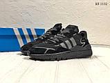 Чоловічі кросівки Adidas Nite Jogger (Адідас Найт Джогер) Чорні, фото 3