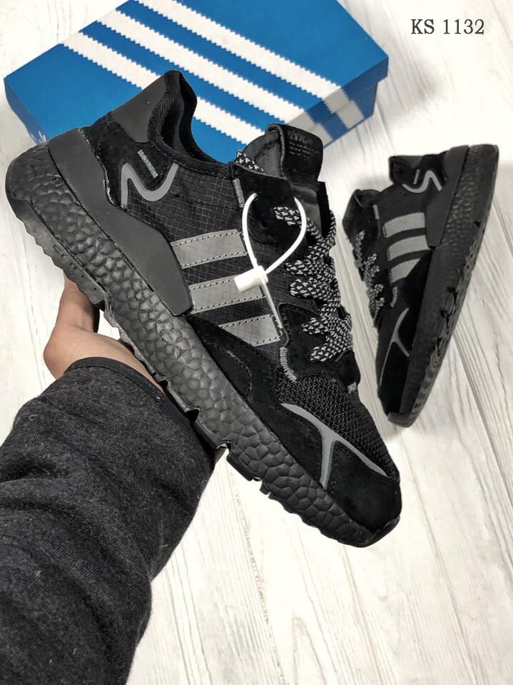 Чоловічі кросівки Adidas Nite Jogger (Адідас Найт Джогер) Чорні