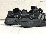 Чоловічі кросівки Adidas Nite Jogger (Адідас Найт Джогер) Чорні, фото 5