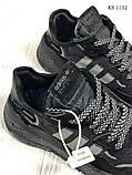 Чоловічі кросівки Adidas Nite Jogger (Адідас Найт Джогер) Чорні, фото 6