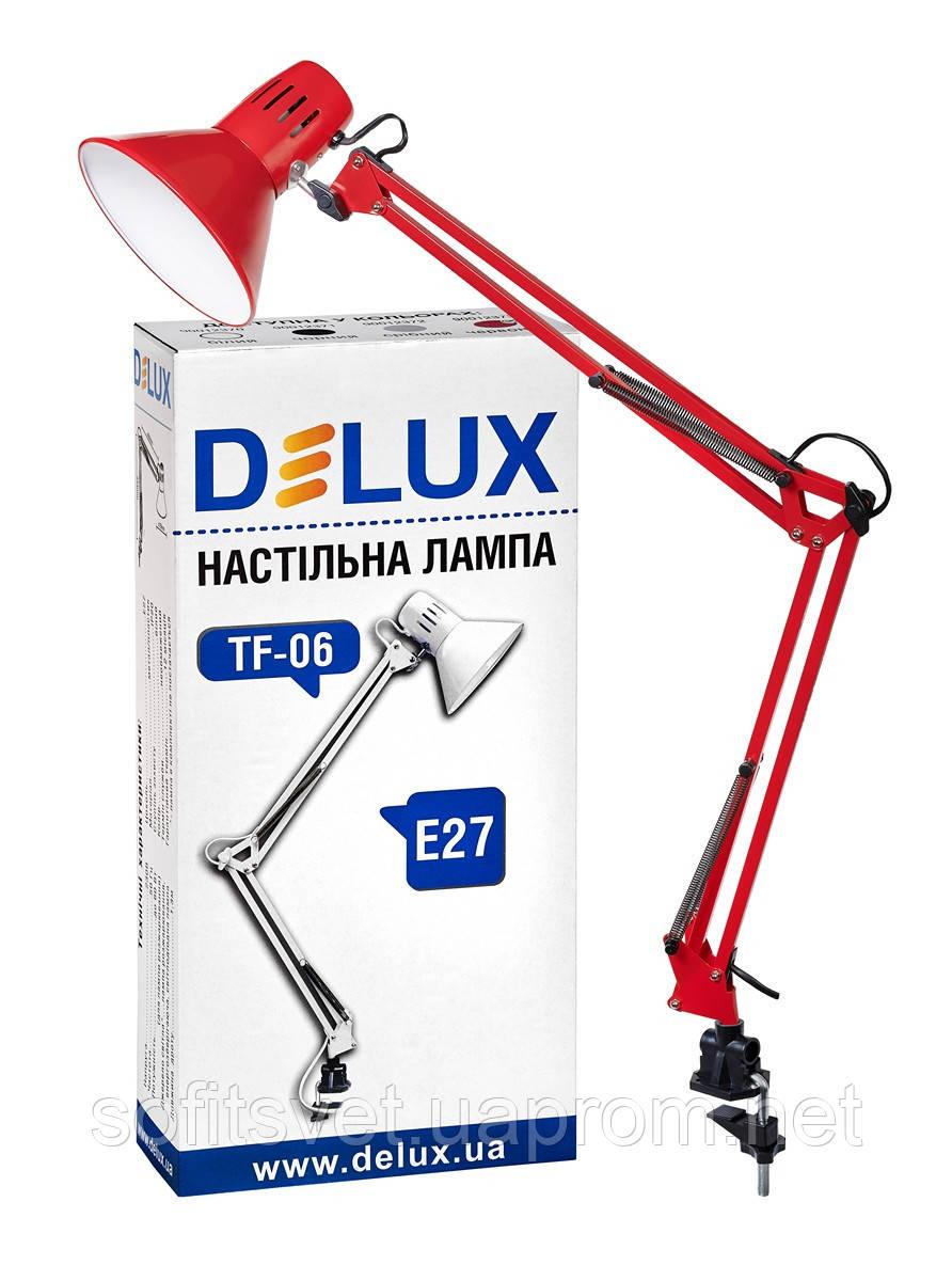 Настольная лампа DELUX TF-06 красная