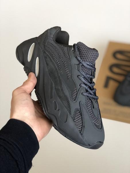 Мужские кроссовки Adidas yeezy boost 700 Static v2 black