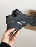 Мужские кроссовки Adidas yeezy boost 700 Static v2 black, фото 4