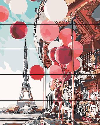 PREMIUM Картина по номерам на дереве 40х50 см. Парижская карусель Rainbow Art, фото 2