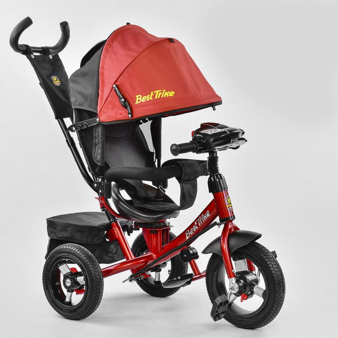 Велосипед Best Trike 7700 В - 1244 поворотное сиденье, надувные колеса, пульт включения света и звука
