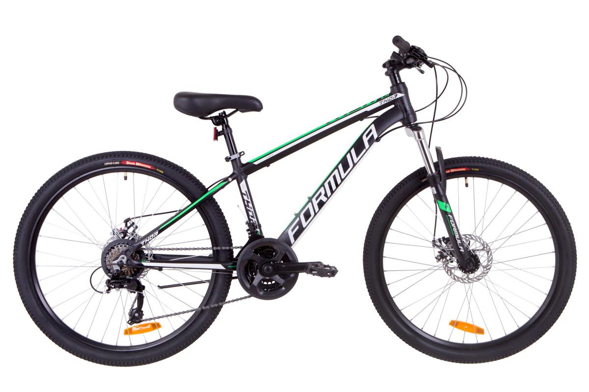 """Велосипед горный 26"""" Formula THOR 2.0 DD 2019 (черно-зеленый (м))"""