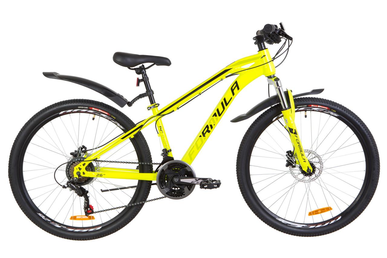 """Велосипед горный 26"""" Formula DAKAR HDD 2019 (желтый)"""