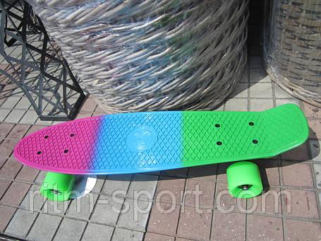 Пенни борд (Penny) мини скейтборд мультиколор, фото 2