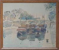 Картина Париж Сена 1950 год Н.Г.Кричевский