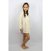Туника с капюшоном желтая (134 - 140) - пляжная одежда для детей, туники, панамы, рубашки