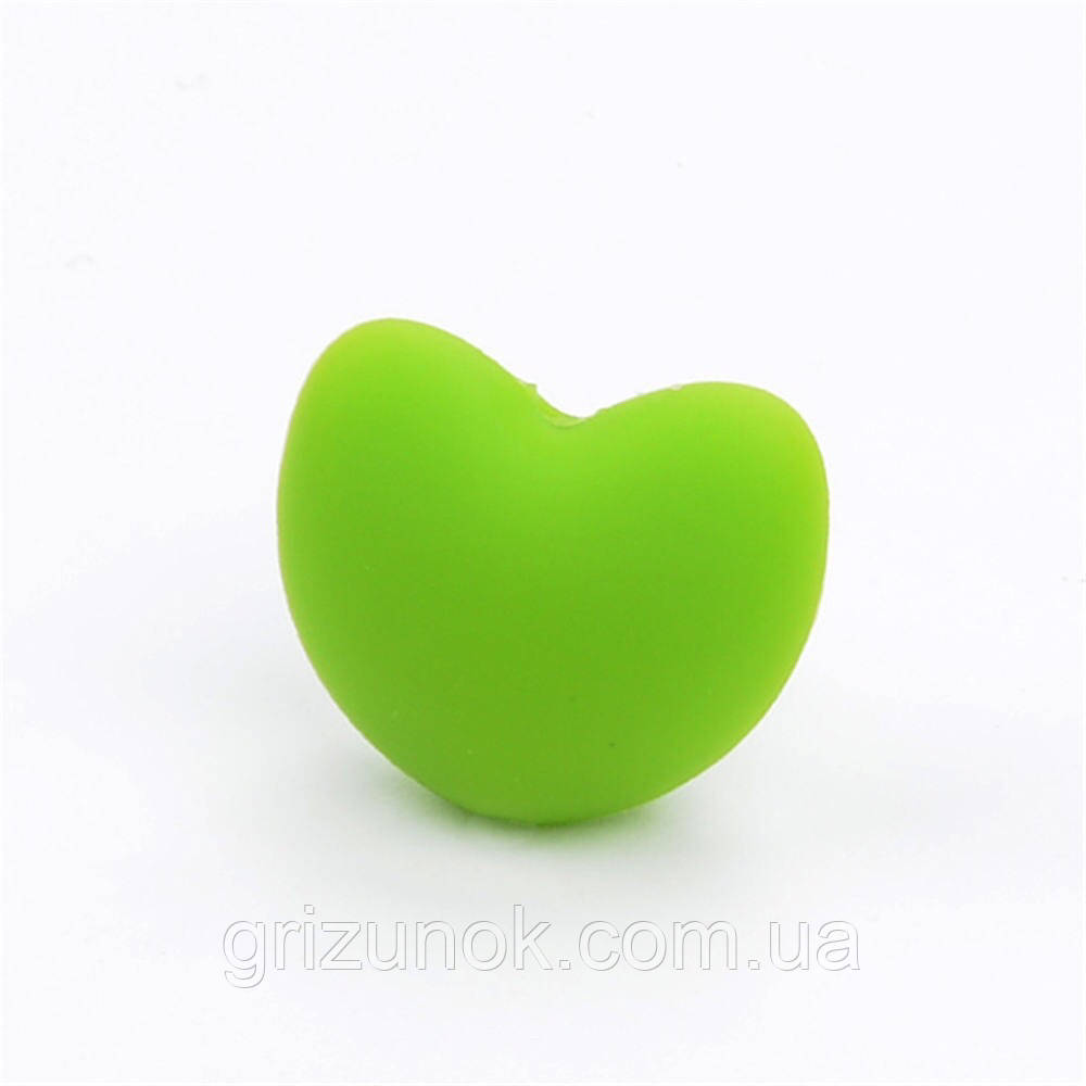 Сердечко 20*17*13 мм (зелёный)