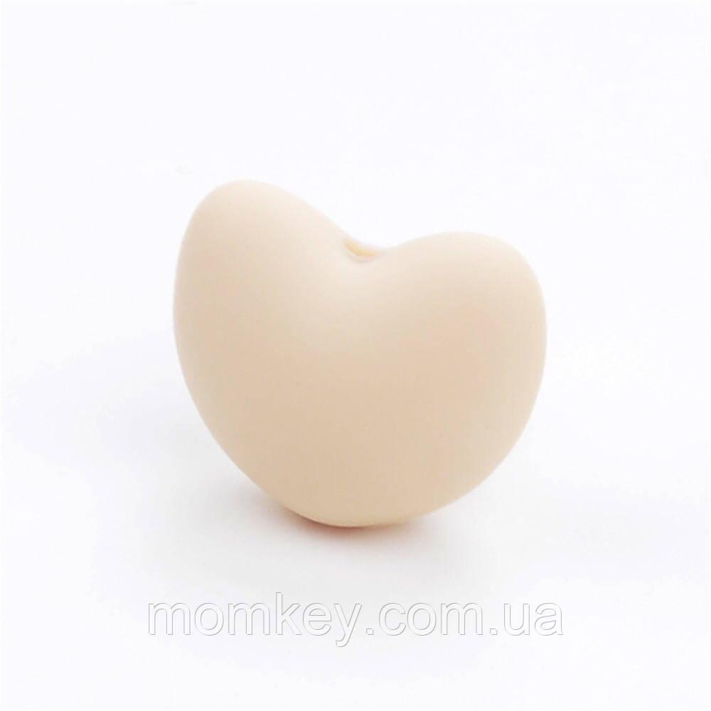 Сердечко 20*17*13 мм (бежевый)