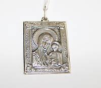 Икона-подвес из серебра Дева Мария