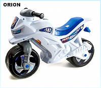 """Беговел """"Мотоцикл"""" 2-х колесный 501-1B (Белый) - удобный безопасный беговел для детей от 2 лет"""