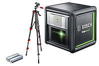 Линейный лазерный уровень Bosch Quigo green (Зеленый луч) + Штатив (0603663C01)